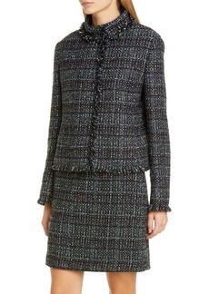 Akris punto Fringe Trim Tweed Jacket