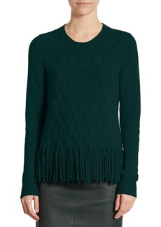 Akris Fringed-Knit Pullover