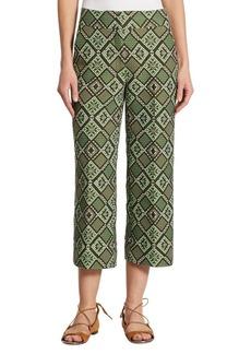 Akris punto Geometric-Print Jacquard Pants