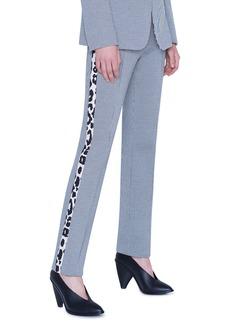 Akris punto Gingham and Leopard Tuxedo Stripe Pants