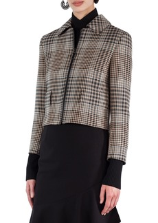 Akris punto Glen Check Crop Jacket