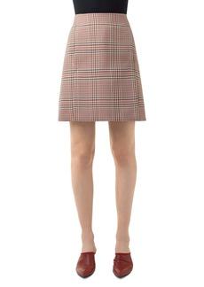 Akris punto Glen Plaid Gabardine Skirt