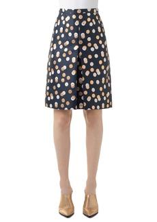 Akris punto Gold Leaf Dot Pleat Skirt