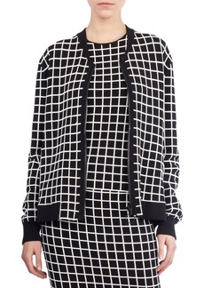 Akris punto Grid Knit Bomber Jacket