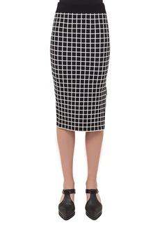 Akris punto Grid Knit Pencil Skirt