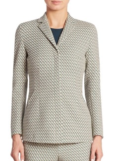 Akris punto Helia Graphic Jacquard Jacket