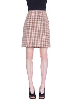 Akris punto Houndstooth Jacquard Cotton Blend Miniskirt