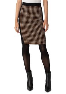 Akris punto Houndstooth Jersey Pencil Skirt