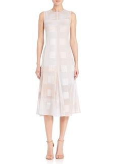 Akris punto House N Window Print A-Line Dress