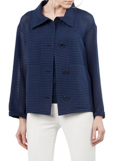 Akris punto Illusion Stripe Jacket