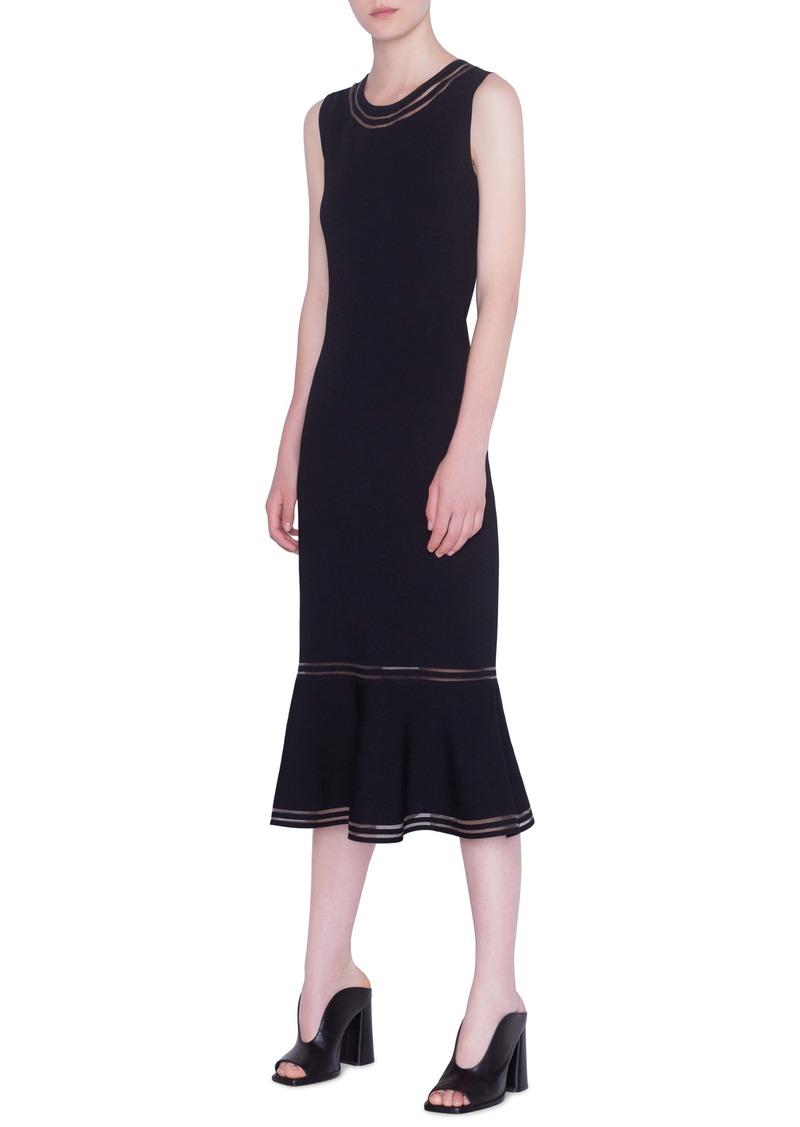 Akris punto Illusion Stripe Sleeveless Midi Dress