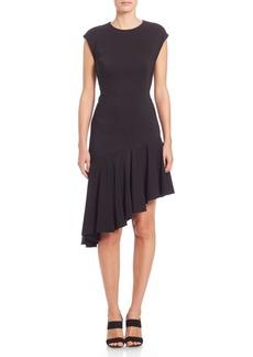 Akris Jersey Asymmetrical Hem Dress