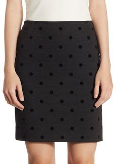 Akris Punto Jersey Velvet Dot Skirt