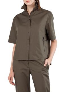Akris punto Kent Collar Cotton Shirt