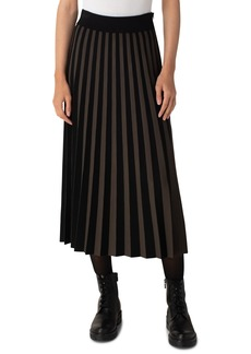 Akris punto Kodak Stripe Pleated Skirt
