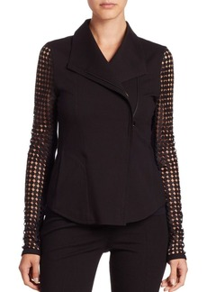 Akris punto Lace and Jersey Jacket