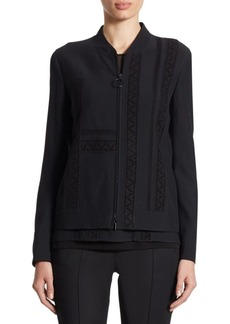 Akris punto Lace-Detail Zip Jacket