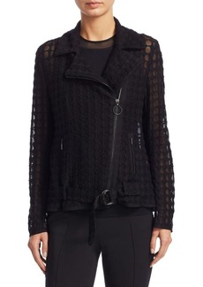Akris Punto Lace Dot Jacket