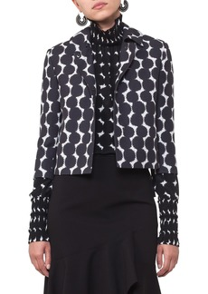 Akris punto Lace Dot Print Crop Jacket