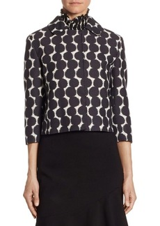 Akris punto Lace Dot Wool Jacket