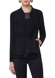 Akris punto Lace Embellished Zip Jacket