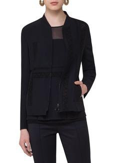 Akris punto Lace Embellished Zip Jacket