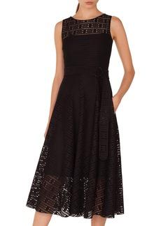 Akris punto Lace Fit & Flare Dress