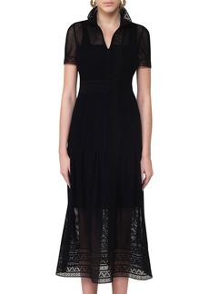Akris punto Lace Mesh Midi Dress