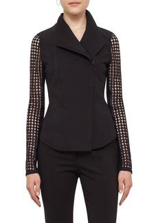 Akris punto Lace Sleeve Jersey Jacket