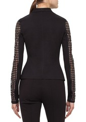 Akris punto Lace Sleeve Jersey Jacket
