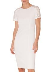 Akris punto Lace Trim Jersey Dress