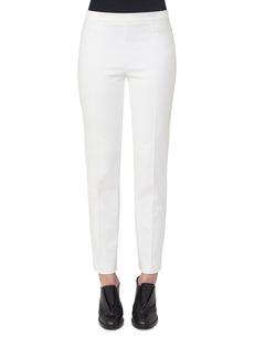 Akris punto Lace-Trim Stretch-Cotton Pants
