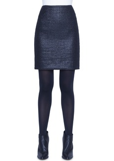 Akris punto Lacquered Tweed Skirt
