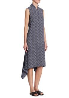 Akris Las Rocas-Print Asymmetric Dress