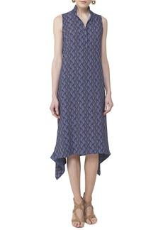 Akris punto Las Rocas Print Midi Dress