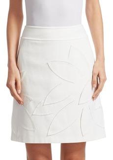 Laser Cut A-Line Mini Skirt