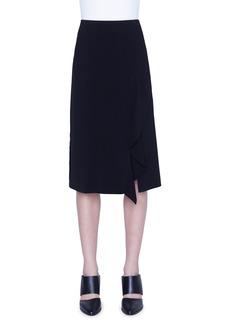 Akris punto Laser-Cut Asymmetric Crepe Skirt