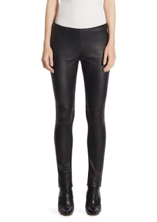 Akris Punto Leather Jersey Pants