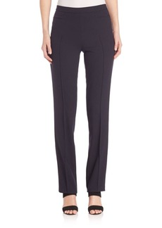 Akris punto Leather Piped Francoise Pants