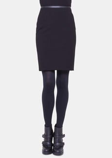 Akris punto Leather Trim Jersey Skirt