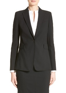 Akris punto Long One-Button Jacket