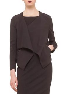 Akris Punto Long-Sleeve Draped-Front Jacket