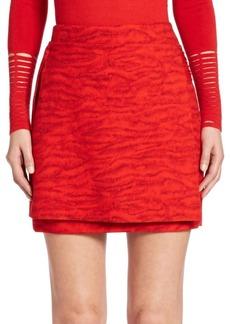 Akris punto Masai-Detail Tiger Print Overlay Skirt