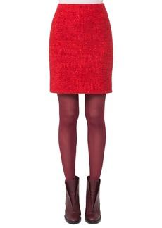 Akris punto Melange Knit Mini Skirt