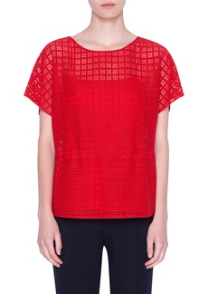 Akris punto Mesh Lace Top