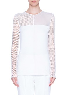Akris punto Mesh Patchwork Top