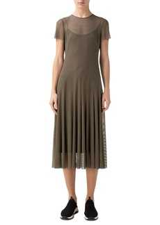 Akris punto Mesh Short Sleeve Dress