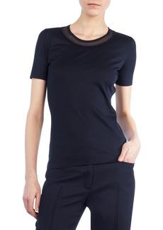 Akris punto Mesh-Trim Short-Sleeve T-Shirt