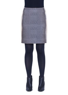 Akris punto Metallic Glen Plaid Miniskirt