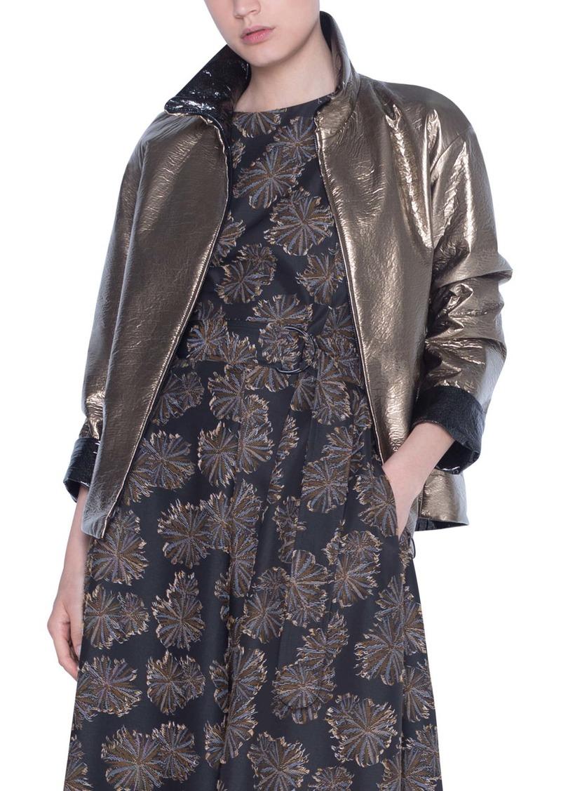 Akris punto Metallic Reversible Jacket